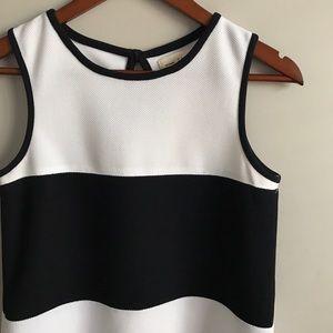 Zara Knit Black & White Dress